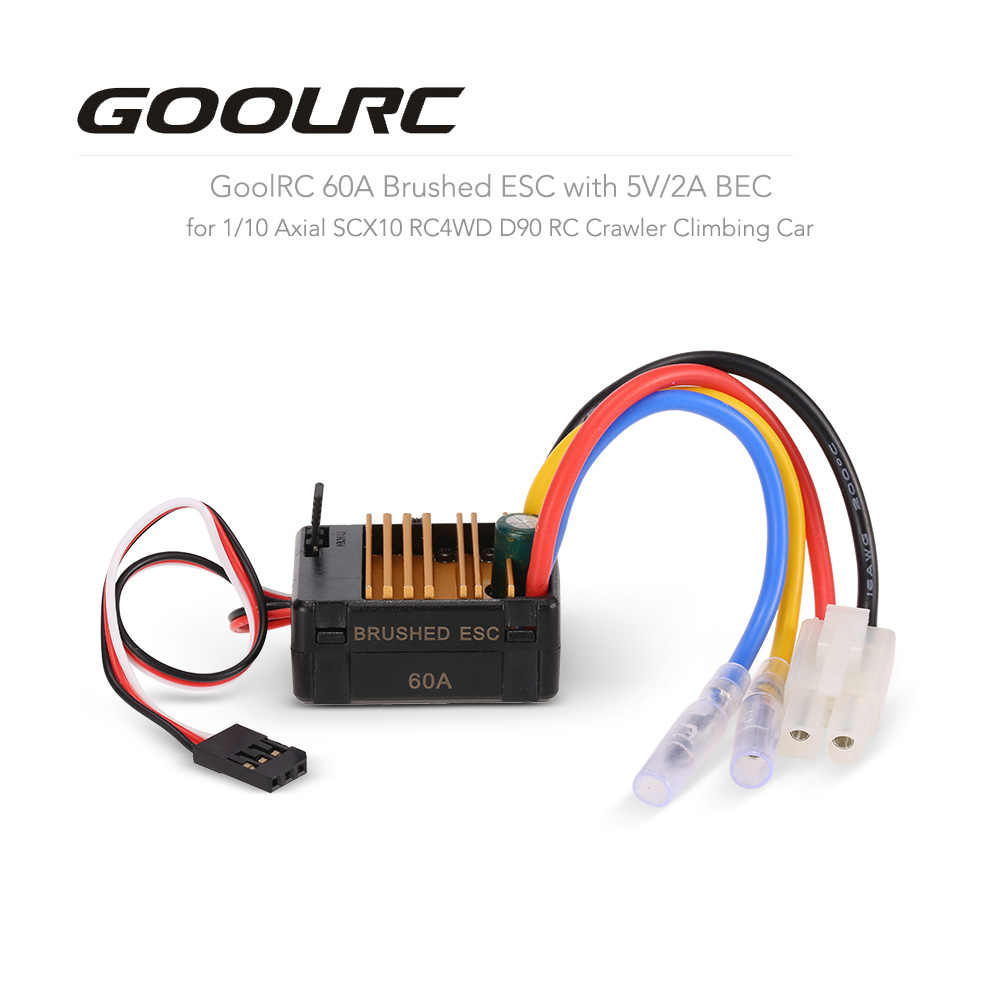 hight resolution of detail feedback questions about goolrc 60a brushed esc electric scx10 bec wiring