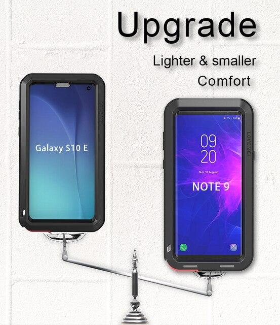 Samsung Galaxy S10 Artı Durumda AŞK MEI Şok Kir Geçirmez Su Geçirmez Metal Zırh Kapak Telefon Samsung kılıfı Galaxy S10e