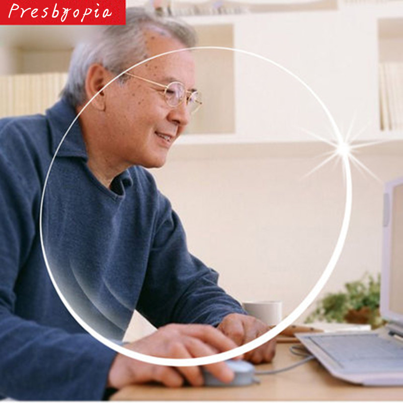 Presbyopic Lens 1.56 Index Clear Optical Prescription Lenses Polycarbonate For Presbyopia Free Processing For 2 Pcs