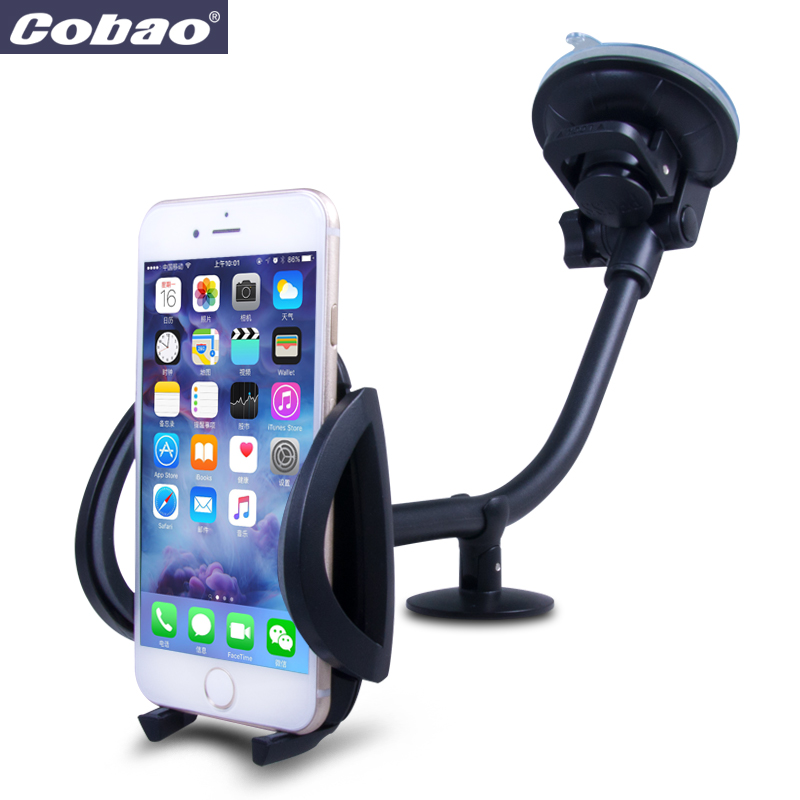 Universal Car Phone Holder Long Arm windshield Mount Stand ...