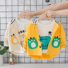 New Children Cartoon Coat Spring Autumn Kids Casual Jacket Boys Outerwear Coats Windbreaker Baby Clothes Boy Hooded Clothing недорого
