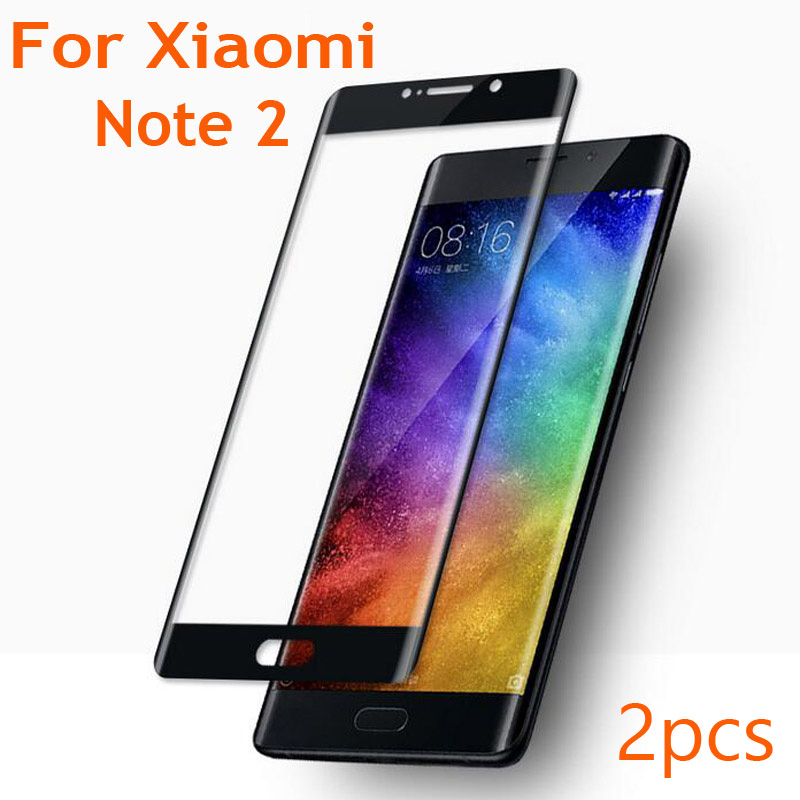 2pcs Full Cover 9H 3D Curve Edge Tempered Glass for Xiomi <font><b>Xiaomi</b></font> <font><b>Mi</b></font> Note2 Note <font><b>2</b></font> <font><b>Screen</b></font> <font><b>Protector</b></font> Anti Blue ray Protective Film image