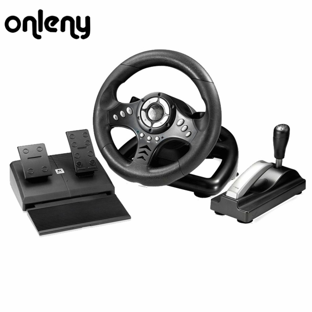 Onleny 18S Vibration Racing Steering Wheel Learning To Drive Steering-Wheel Simulator Driving European Truck For Need for Speed ...