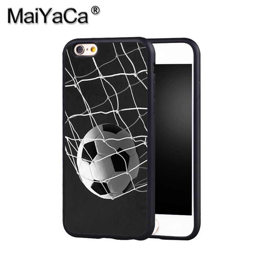 MaiYaCa Soccer Ball in Net Football Futbol Goal Phone Case Cover For Iphone X 8 6 6S Plus 7 7 Plus 5 5S 5C 4S SE Mobile Case