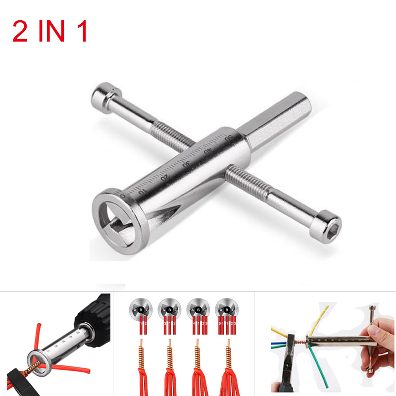 2 In 1 Electric Handmade Drill Bit Electrical Cable Wire Quick Connector Metal Drill Bit Twist Wire Tool Wire Stripper Pliers