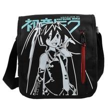 E-Mell Vocaloid Miku Conan Fairy Tail Naruto Akatsuki Red Cloud Single shoulder Nylon bag