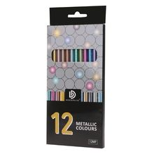 цены 12Pcs Metallic Non-Toxic Colored Drawing Pencils 12 Color Drawing Sketching Pencil