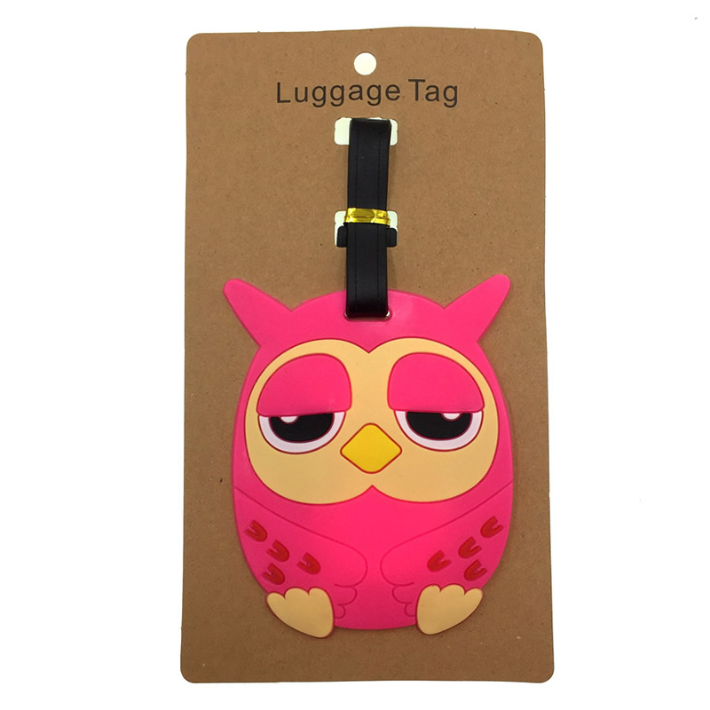 PU Leather Luggage Tags Sailor Moon Wink Suitcase Labels Bag Adjustable Leather Strap Travel Accessories Set of 2