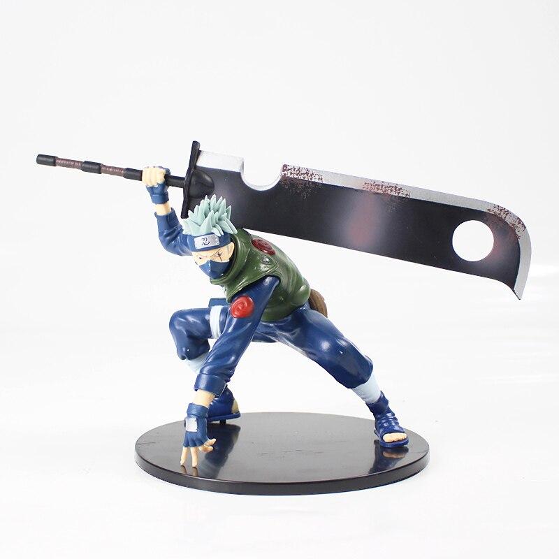 Naruto Shippuuden Hatake Kakashi with Sword Shinobi World War Figurine Ver. PVC Action Figure Collection Model Toys Dolls
