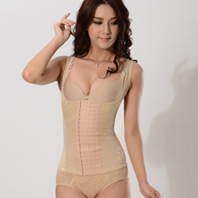 Women's New Product Six Double-Bbreasted Non-Trace Chest Gathered The Garment Thin Body Belly in Waist Corset Corsets