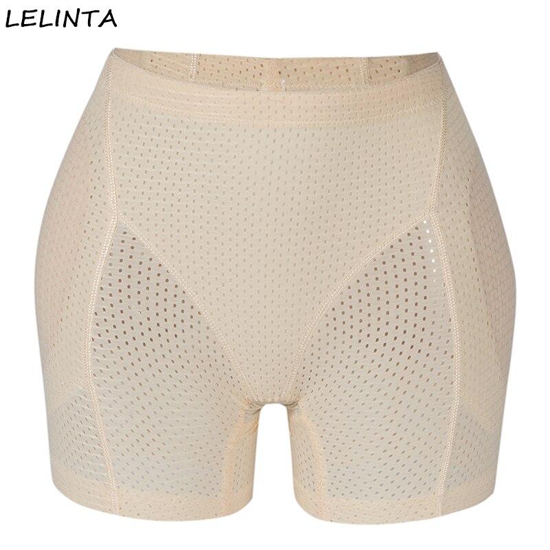 Calzas acolchadas con realce de glúteos para mujer-bragas de Control transpirables sin costuras para realzar la cadera