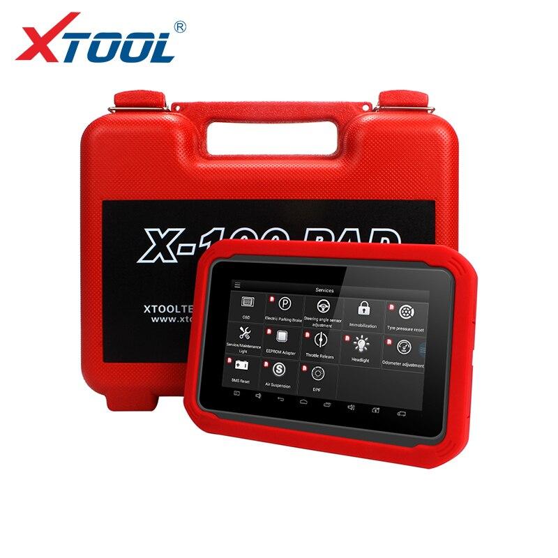 X100 PAD OBD2 Programmatore Chiave Auto Lettore di Codice Diagnostico Scanner Automotive IMMO EPB DPF BMS di Reset Contachilometri EEPROM di Aggiornamento on-line