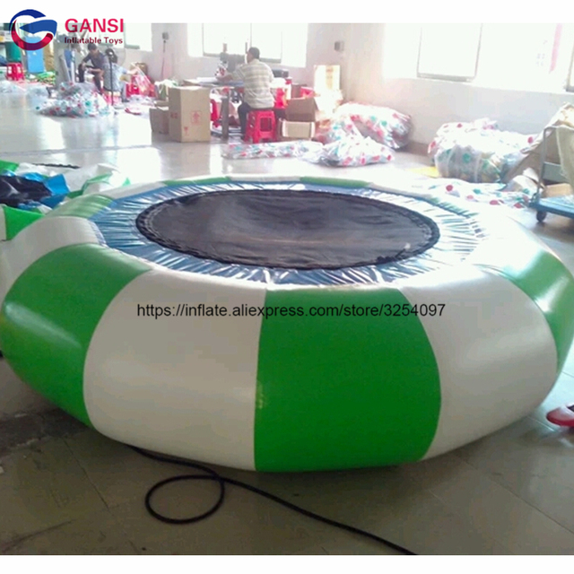 Hot sale 5m inflatable water trampoline for water park for kid and adult China manufacturer lows price inflatable trampoline bed