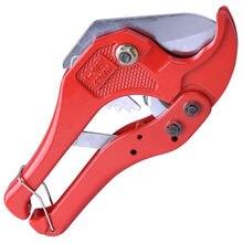 Cortador de manguera de plástico para tubería de fontanería, trinquete cortado con cuchillo de 42mm, herramienta de tubo de agua de PE y PVC, tijera de aluminio PPR