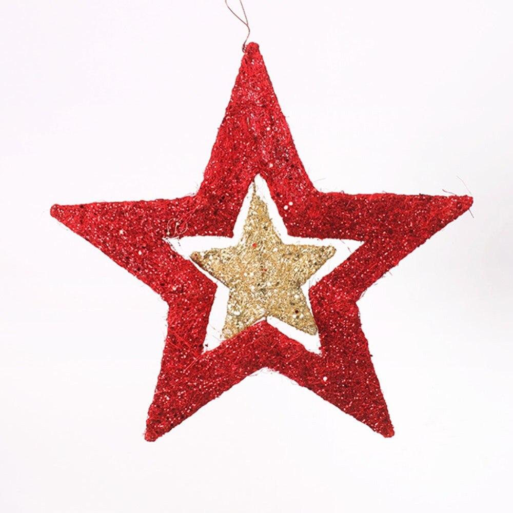 Stella Di Natale A 5 Punte.Us 3 49 30 Di Sconto 40 Cm Formato Decorazione Dell Albero Di Natale Di Natale Piccola Stella A Cinque Punte Albero Di Natale Fascio Impiccagioni Di