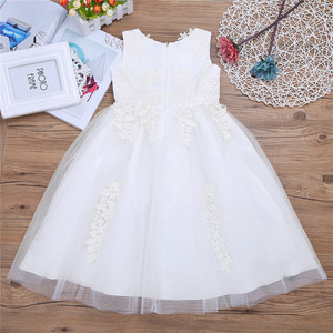 Image 1 - Infant Kids Ball Gown Party Formal Flower Girl Dresses Water soluble Princess Pageant Gowns Tulle Maxi Wedding Party Dress