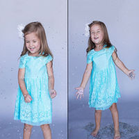 Hot Sale 2015 New Kids Baby Girls Dress Party Lace Flower Solid Gown Children Formal Dresses
