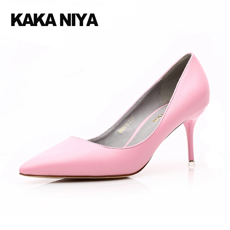 Pink High Heels Office Gray Pointed Toe Pumps 2017 Scarpin 4 34 Small Size Shoes Women China 7cm 3 Inch Ladies Formal High