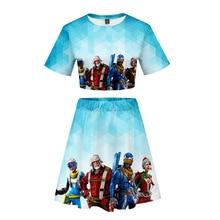 Batle Hreo Game Women Outfits 2 Piece Set Women Outfit 3D Print T-Shirt Women's Suit Mini Skirt Summer Top Ensemble Femme t 3d mini