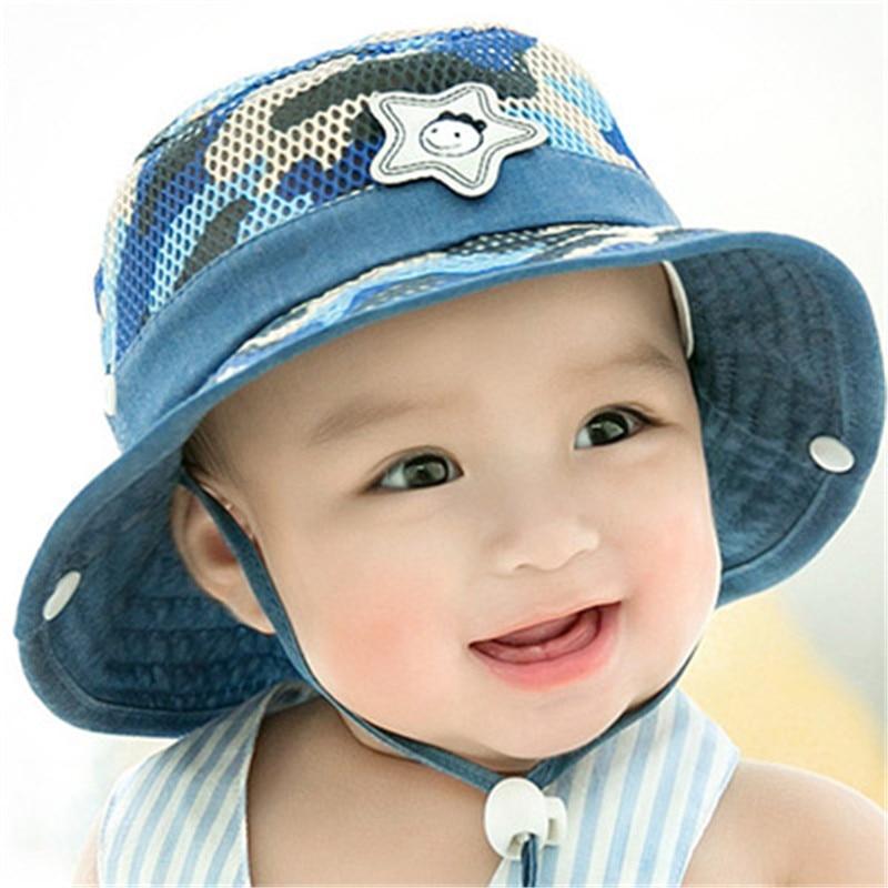 f2fb81676be Detail Feedback Questions about 2018 Summer Autumn Warm Soft Cotton Baby  Sun Hat Infant Boys Girls Bucket Hat Denim Cotton Toddler Kids Camouflage  cap mesh ...