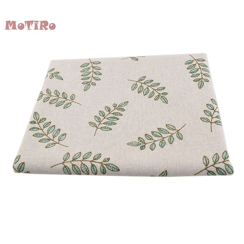 Honest Motiro,printed Cotton Linen Fabric,100*155cm,leaf Series Cloth For Diy/quilting/sewing/sofa/table/curtain/bag/cushion Material Apparel Sewing & Fabric Home & Garden