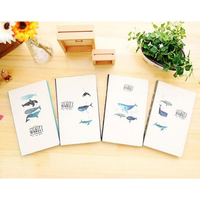 Tienda Online Kawaii creativo ballenas Color Notebook páginas en ...