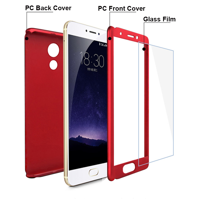 Image 4 - 360 Degree Case For Meizu M6 Note M6 M6S M5 M3 Note M5 Tempered Glass+ Protective Case Meizu Pro 7 Luxury Thin Full Cover Hybrid-in Fitted Cases from Cellphones & Telecommunications