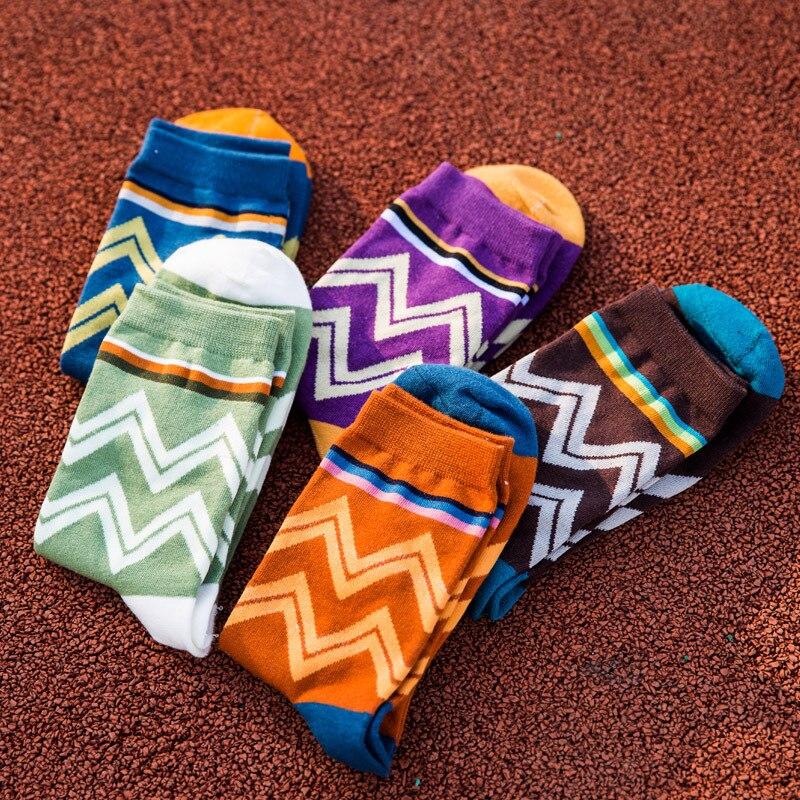 5 pairs/lot 2016 Retro Nation Men Dress Socks Cotton Business Office Set Socks Summer Striped Dot meias masculinas