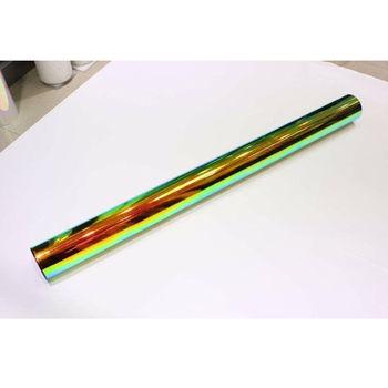 "1.38x3m/54""x10ft Holographic Rainbow Neo Chrome Car Vinyl Wrap Bubble Free Sticker Film"