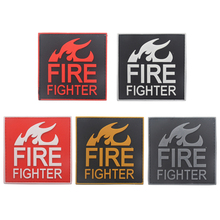 0cce91e5ab7 PVC Patch FIRE FIGHTER Red on Black PATCH Rescue Military Thin Red Line  FIREFIGHTER EMS Medic