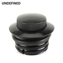 Motorcycle Black POP-UP Screw-In Flush Mount Fuel Tank Gas Cap for Harley Davidson Sportster Free shipping