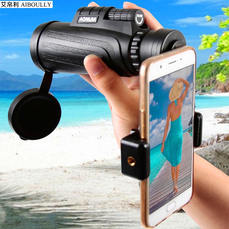 цена на HD 12x remote monocular magnifier Outdoor travel telescope Vacation leisure products Observation of Birds Discovery Science