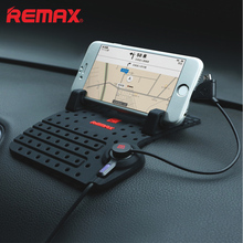 Remax Common cell phone charger Automobile adjustable Bracket connector Magnetic automotive cellphone holder 2 IN 1 USB knowledge Cable charging