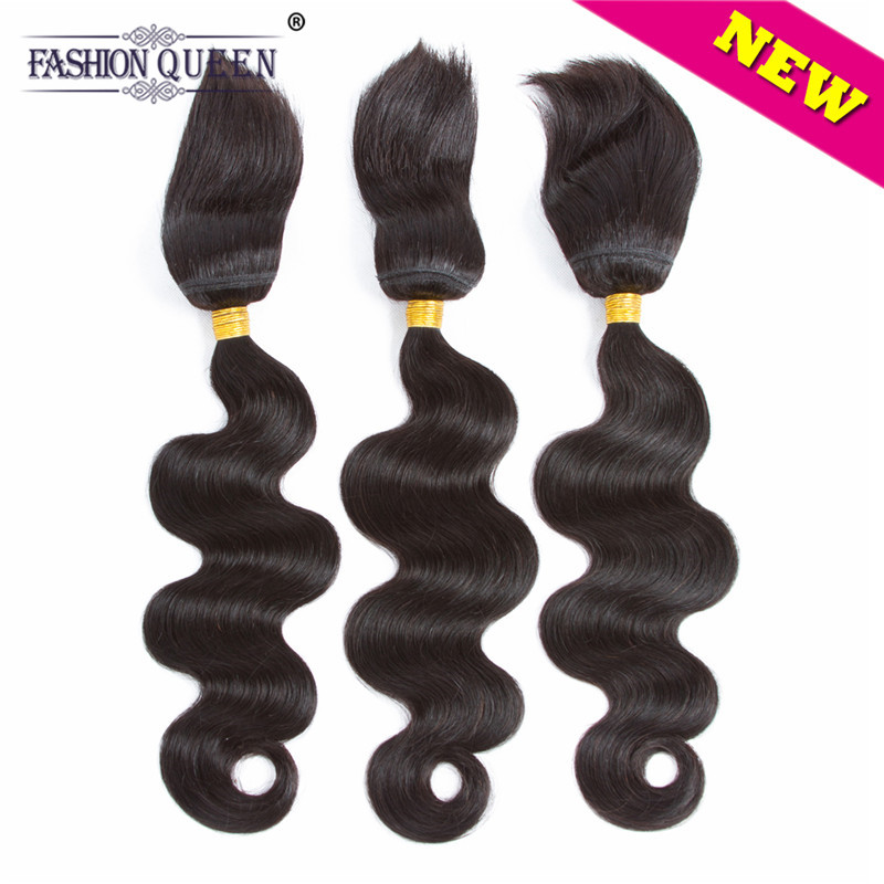 Fashion Queen Braid in Bundles Brazilian Human Hair Body Wave 3 Bundles 120g/Pc No Glue No Thread Braid in Human Hair Extension ...
