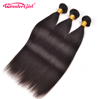 Wonder Girl Peruvian Non Remy Straight Hair 1 Bundle Best Quality Natural Color Hair Weave Peruvian