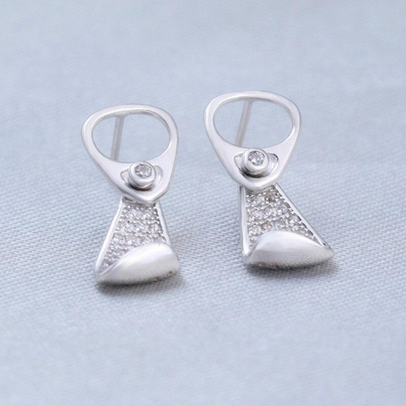 Серебряные серьги-гвоздики ASOS для OL женщин язычок форма полный кубический циркон уникальные серьги oorbellen Brincos личности