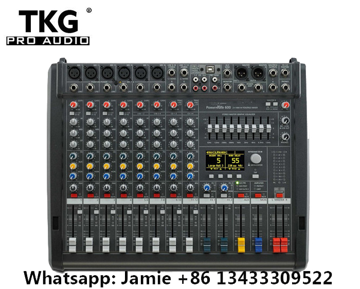 New PM600 3 Powermate 600 3 Powermate 600 mk3 Power Mixer with Cover 6 channel professional