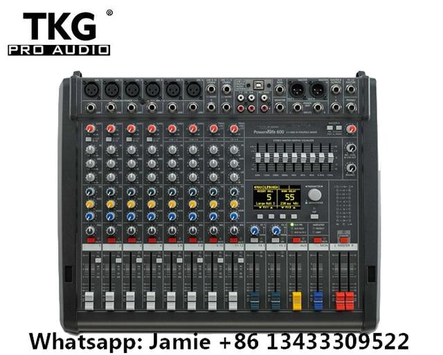Novo PM600 3 powermate 600 3/powermate 600 mk3 power mixer com capa 6 canal profissional mixer console