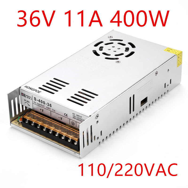 New LED power supply DC 5V 12V 24V 36V 48V 360W 400W Switching Power Supply Source Transformer AC DC SMPS