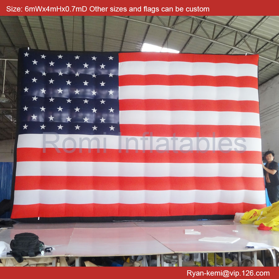 custom giant inflatable American flag large inflatable flag big inflatable flag balloon