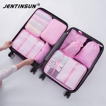 8PCS/Set Fashion Travel Organizer Bags For Men Women Waterproof Polyester Luggage Underwear Clothing Sorting Bag Packing Cubes