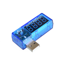Free shipping 10PCS Blue USB charge current and voltage tester voltmeter ammeter detector detects the USB