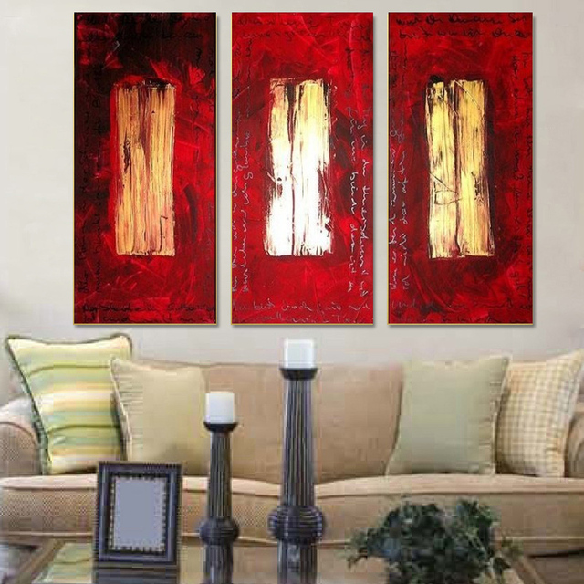 Tulip Rose Wall Art Painting For Kitchen Room Golden: Aliexpress.com : Buy 3 Panel Canvas Wall Art Vertical