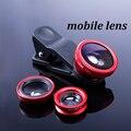 3in1 para iphone lente olho de peixe grande angular macro universal clipe lente do telefone móvel universal com clip para samsung xiaomi atacado