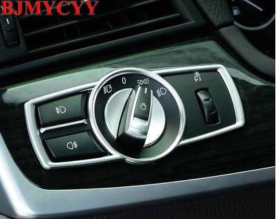 Image 3 - BJMYCYY Car Headlight Switch frame decorative cover trim Car styling 3D sticker decal For BMW 5/7 series 5GT X3 F25 /X4 F26 E60-in Car Stickers from Automobiles & Motorcycles