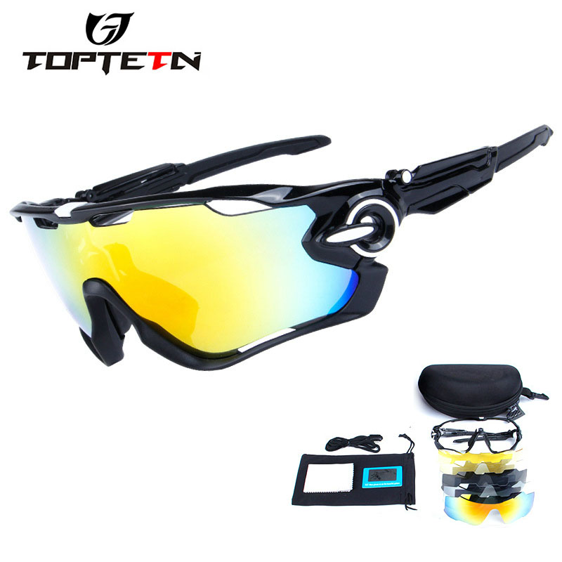 5 Lens Brand New Jaw Outdoor Sports Cycling Sunglasses Eyewear TR90 Men Women Bike Bicycle Cycling Glasses Goggles цена