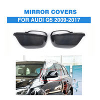 Carbon Fiber Replacement style side Rearview mirror covers for Audi Q5 SQ5 S line SUV 4 Door 09 17 without side lane assist hole