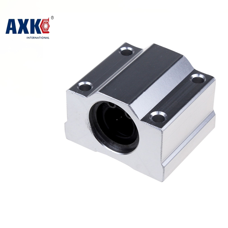 2017 Real Axk Linear Rail Cnc Router Parts 4 Pcs/lot Sc16uu Scs16uu 16mm Linear Ball Bearing Block Pillow For Cnc Parts Sc16 ночная сорочка 2 штуки quelle arizona 464118
