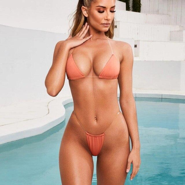 Summer Sexy Bikini Sexy Push-Up Padded Lace Up Swimwear Push Up Beachwear Set Two Piece Swimsuit Beachwear Open Back Suit 3