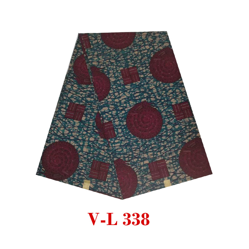 2019 The Lastest Design Guaranteed Ankara 6yards Dot Flower Prints Fabric African Wax Soft And Breathable Wax V-L 338